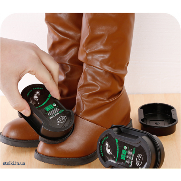"""Губка для придания свежести и блеска кожаной обуви """"Shiny"""""""