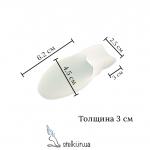 Силиконовый протектор на боковую косточку с перегородкой