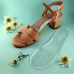 Женские силиконовые стельки с подушечкой для высокого подъема стопы, на клейкой основе, универсальный размер