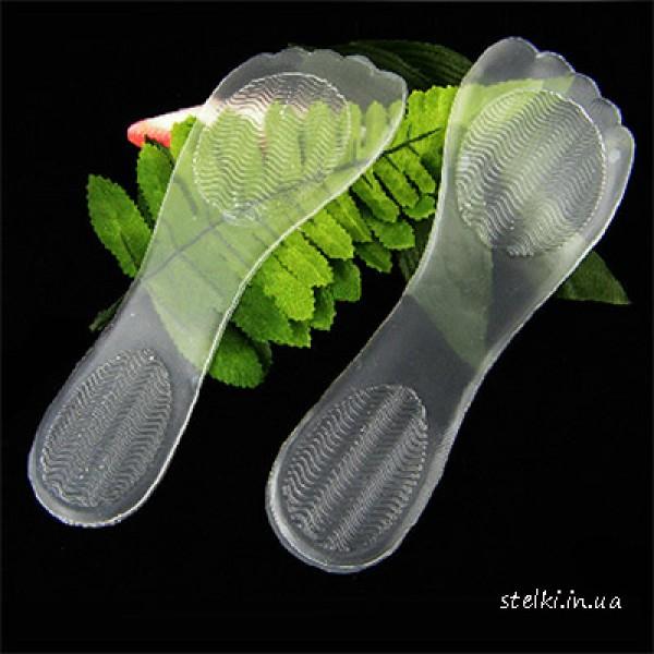 Стельки силиконовые на всю стопу для женской обуви