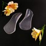 Силиконовые полустельки для маленького подъема стопы