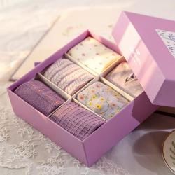 "Набор женских носков Caramella ""Purple Flowers"", 6 пар"