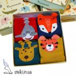 """Набор детских носков Caramella """"Cartoon Animals"""", 4 пары"""