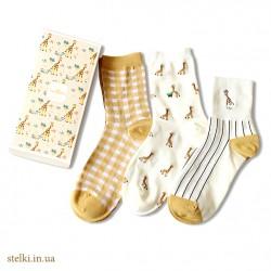 """Набор женских носков """"Giraffe"""", 3 пары."""