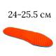 24-25.5 см, кислотный оранжевый цвет