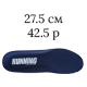 27.5 см/42.5 размер; темно-синий цвет (Running)