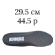 29.5 см/44.5 размер; серый цвет (Running)