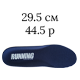 29.5 см/44.5 размер; темно-синий цвет (Running)
