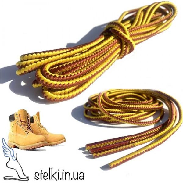 Круглые плетенные шнурки для обуви Timberland, 130 см