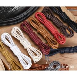 Круглые шнурки с пропиткой для ботинок цветные, 120 см