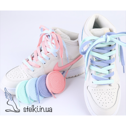 Плоские шнурки для обуви пастельных цветов, 120 см