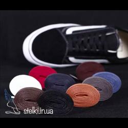Плоские шнурки с пропиткой для обуви цветные, 120 см