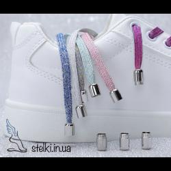 Цветные эластичные шнурки-резинки с фиксатором закруткой