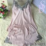 Женская пижама розового цвета, комплект (шорты и майка), модель В-10