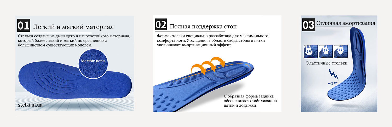 стельки с амортизационным эффектом для любой обуви